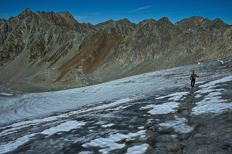 Abstieg vom Glockturm-Gipfel - Tirol Österreich /<br /> Descent from Glockturm-Summit - Tirol Austria