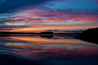 Sonnenuntergang bei Sankt Anna - Schweden