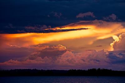 Sunset in Småland - Lake Åsnen, Sweden