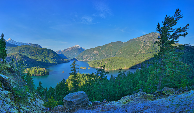 Diablo Lake Overlook, North Cascades Highway, WA