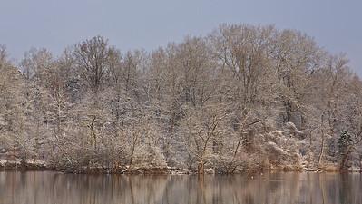 Schnee am Fermasee, Rheinstetten