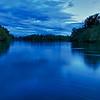 'Blaue Stunde' am Altrhein - Rheinauen am mittleren Oberrhein, Deutschland<br /> 'Blue hour' at the Old Rhine - middle Upper Rhine, Germany