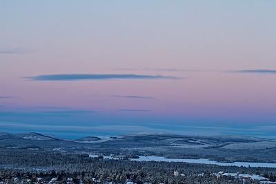 Nordblick - Blick vom Lillberget über Arvidsjaur - Norrbottens län, Schweden