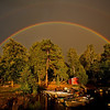 Doppelter Regenbogen -  Åsnen,  Småland, Schweden