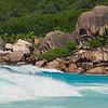 Grand Anse - waves and rocks