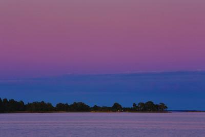 Sonnenuntergang- Oknö, Småland, Schweden