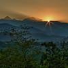 Sonnenuntergang hinter dem Triglav-Massiv - Bled, Slovenien<br /> <br /> Sunset behind the Triglav Massif - Bled, Slovenia