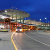 Anchorage Airport Taxi Stand Night View