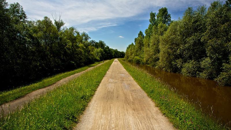 """Hochwasserdamm<br /><br /> flood dam<br /><br />  - mehr dazu im Blog: <a href=""""http://arnohelfer.wordpress.com/2013/06/03/der-braune-rhein/"""">Der braune Rhein</a>"""