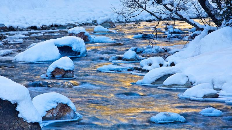 Eis und Schnee / Ice and snow<br /> Kalserbach, Nationalpark Hohe Tauern, Osttirol -  Österreich / Austria