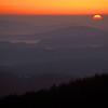 Sonnenaufgang am Lusen, Bayern, Deutschland