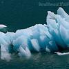 Big chunk of ice that broke off of Mendenhall Glacier, Alaska