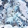 Eis am Haßlacher Schleier-Wasserfall<br /> Nationalpark Hohe Tauern, Osttirol -  Österreich  / Austria