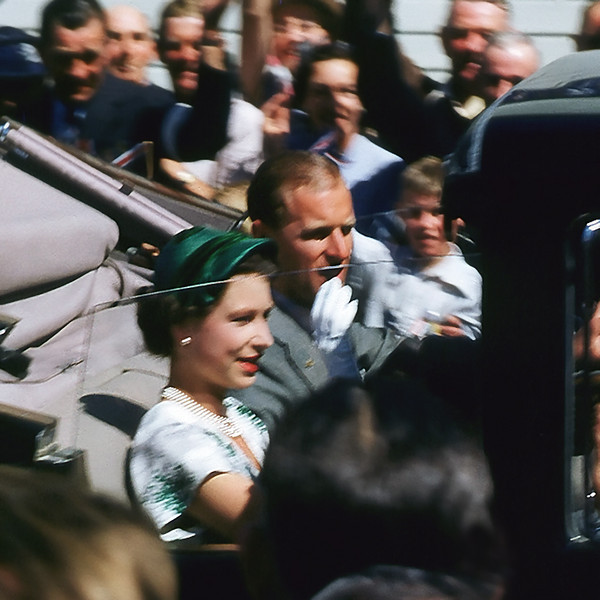 "TK 1950's 006.jpg<br /> 1 x 10.8 x10.8cm/4x4"" in stock<br /> <br /> Queen Elizabeth and Prince Philip taken by Bill Elliot in Christchurch New Zealand during the 1953/54 Coronation Tour. Images taken from scanned transparency in very poor condition. Not available in larger sizes"