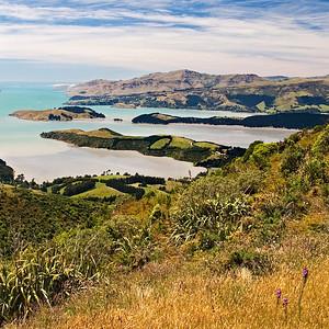 "TSS LytteltonH 002.jpg 0 10.8x10.8cm/4x4"" in stock 0 15x15cm/6x6"" in stock Lyttleton Harbour looking towards Diamond Harbour from Gebbes Pass South Island New Zealand"