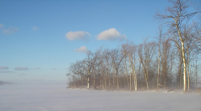 Looking out over the Baie de Vaudreuil on a crisp winter morning.