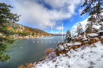Fall Snow Storm at Big Bear Lake