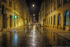 In this street shot from Krakow (Poland) it looks as if it has been raining. The reality is that each night all of the streets get mechanically washed around about 3am leaving beautiful reflections everywhere you look.