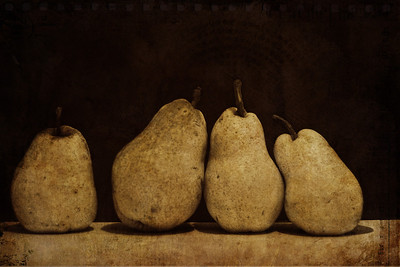 4 Pears Textures by Kim Klassen ( Autumn Burst and The Ladder)