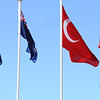 New Zealand and Turkish Flags flying at the Anzac Day Commemorative Ceremony, Gallipoli Peninsula, Turkey, 2011. Credit: Ministry of Foreign Affairs and Trade