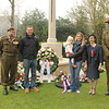 Ambassador Janet Lowe and the Roux-Stevens family attending Anzac Day at Westduin Cemetery in The Hague.