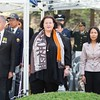 Ambassador Clare Fearnley (Centre) attends the Kapyong Memorial ceremony on 24 April in South Korea.