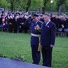 New Zealand Embassy Defence Attache Air Vice Marshall (AVM) Graham Lintott (left) and Deputy Head of Mission Anthony Smith (right) at the Anzac Day Dawn Service, 2013 in Washington. Credit Mike Waller