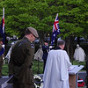 Chaplain speaks at the Anzac Day Dawn Service, 2013 in Washington. Credit Mike Waller
