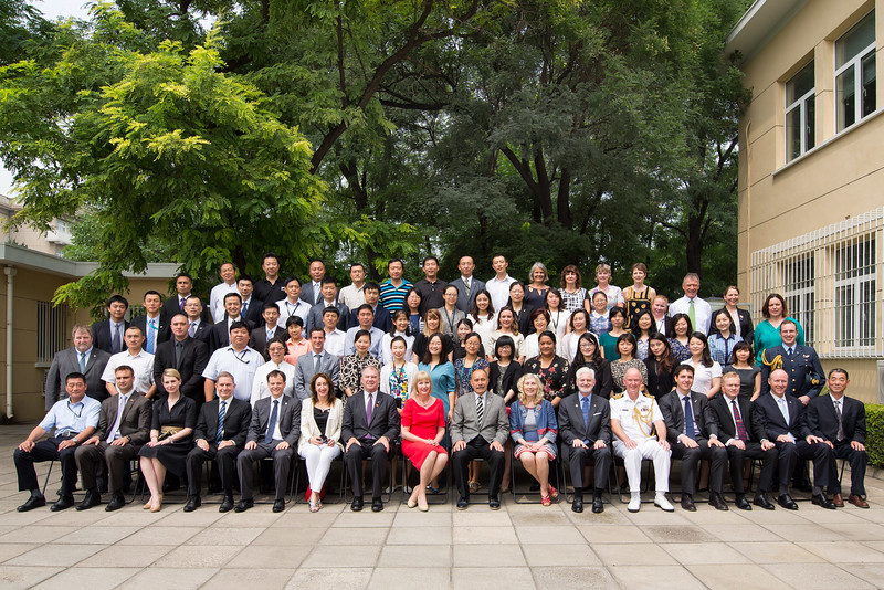 Governor General China Visit_Beijing_Photo with NZ Embassy Staff