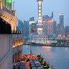 Prime Minister's visit to China 2013. View from the roof of the Peace Hotel in Shanghai. Credit NZ Inc, Charlie Xia