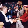 Sir Edmund Hillary is served a drink at the 50th Anniversary of his Mt Everest ascent, Nepal. Credit: New Zealand Ministry of Foreign Affairs and Trade