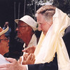 Sir Edmund Hillary shakes hands with a local man at the 50th Anniversary of his Mt Everest ascent, Nepal. Credit: New Zealand Ministry of Foreign Affairs and Trade