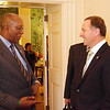 New Zealand Prime Minister, John Key and New Zealand's Ambassador to the U.S, Mike Moore meet with U.S Trade Representative, Ambassador Ron Kirk on his official visit to the U.S, 2011. Credit: Mike Waller
