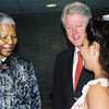Nelson Mandela and Bill Clinton at an official HIV/AIDS occasion, South Africa. Credit: New Zealand Ministry of Foreign Affairs and Trade