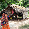 Young mother outside a typical rural Cambodian house. Credit: New Zealand Ministry of Foreign Affairs and Trade