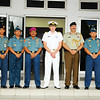 Colonel Deddy Pribadi, Col. Yanuar Legowo, Col. Wayan Maradana, Marine BG Arief Suherman, Commander Jonathan Beadsmoore, D.A. Tony Hill, Lt Col. Imam Teguh, and Lt. Col. Dery Suhendi from the Indonesian Western Fleet during a visit by the HMNZS Te Kaha in November 2011
