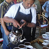 Traditional Tea is poured in Sumatra