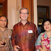 Budhi Yukiono, Ambassador David Taylor, and Lulu Terianto attend a Victoria University of Wellngton Alumni Function at the New Zealand Residence in Jakarta, October 2012.