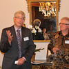Vice-Chancellor Pat Walsh (Left) and Hon. Tim Groser (Right) at a Victoria University of Wellington Alumni Function at the New Zealand Residence in Jakarta on October 2012.