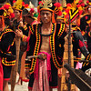 Nias villagers perform traditional war dance. Nias Islands, North Sumatra.