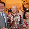 A VUW Alumni, Political Officer David Treacher, and Lulu Terianto (CEO of Bisnis Indonesia Newspaper) attending a Victoria University of Wellington Alumni Function at the New Zealand Residence in Jakarta, October 2012.