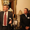 Dr Rod Carr, Vice Chancellor of the University of Canterbury makes a speech alongside Lester Finch (Director of the Institute of Languages and Communications at Sampoerna Foundation) and Deputy Head of Missions Ian Brownlie, at a University of Canterbury Alumni Function hosted by Ambassador David Taylor at the New Zealand residence in Jakarta, October, 2012.