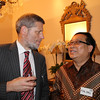 and Rijal Idrus at a University of Canterbury Alumni Function hosted by Ambassador David Taylor at the New Zealand residence in Jakarta, October 2012.
