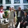 Ang Rita Sherpa (seated) Chair of the Himalayan Trust in discussion with locals, Nepal. Credit: New Zealand Ministry of Foreign Affairs and Trade