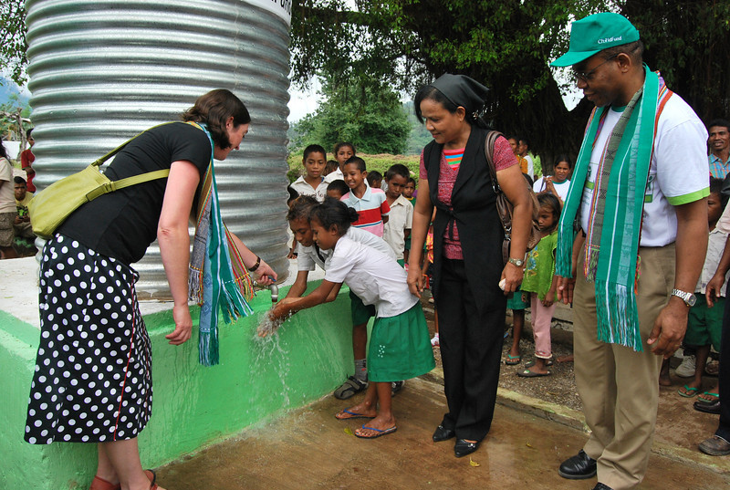 New water facilities in Memo, Timor-Leste. Credit Sigit Pramono