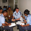 A community consultation session with the  Policia Nacional de Timor-Leste (PNTL) undertaken when the New Zealand Police first went to Suai, Timor-Leste, 2004. Credit: New Zealand Police