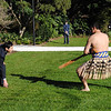 The Ambassador of the Socialist Republic of Viet Nam, His Excellency Mr Nguyen Hong Cuong, picks up the dart placed before him by a member of the Defence Force Maori Cultural Group, at a credentials ceremony. The ceremony was hosted by the Governor-General, Rt Hon Sir Anand Satyanand, and Lady Susan Satyanand at Government House, Wellington, New Zealand, 16 June 2011. Credit: TheGovernor General