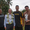 Prime Minister John Key with Rugby stars during his Pacific Trip 2009, Cook Islands. Credit: New Zealand Ministry of Foreign Affairs and Trade
