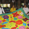 Tiaevae (applique quilt) made by the women of Palmerston Island, Cook Islands. Credit: New Zealand Ministry of Foreign Affairs and Trade