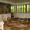 Cyclone Ami 2003 Flood damage to the inside of a classroom, Fiji. Credit: New Zealand Ministry of Foreign Affairs and Trade